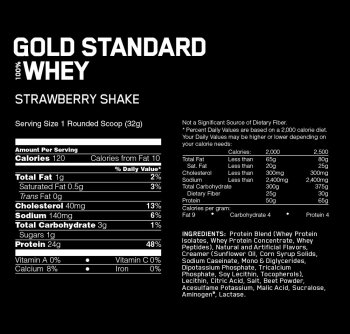 Gold standard 100% Whey protein 2270g jagoda - Optimum Nutrition