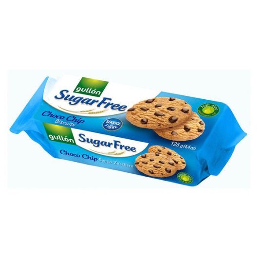 Keksi s komadićima čokolade Gullon u plavom pakiranju od 125 grama