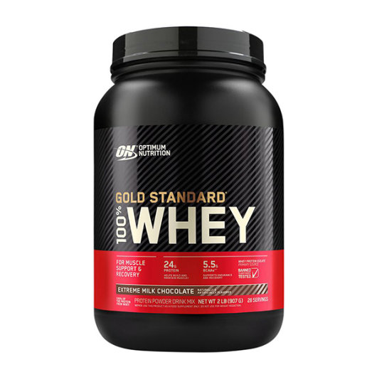 Gold standard 100% Whey protein 908g extreme chocolate - Optimum Nutrition