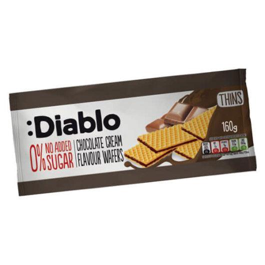 Napolitanke s čokoladom bez dodanog šećera 160g - Diablo