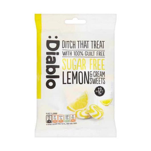 Bomboni s okusom limuna bez šećera 75g - Diablo