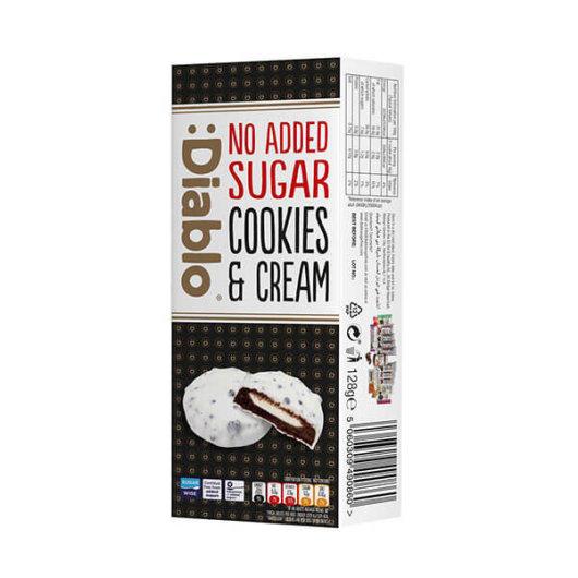 Bijeli keksi s punjenjem bez dodanog šećera 128g - Diablo
