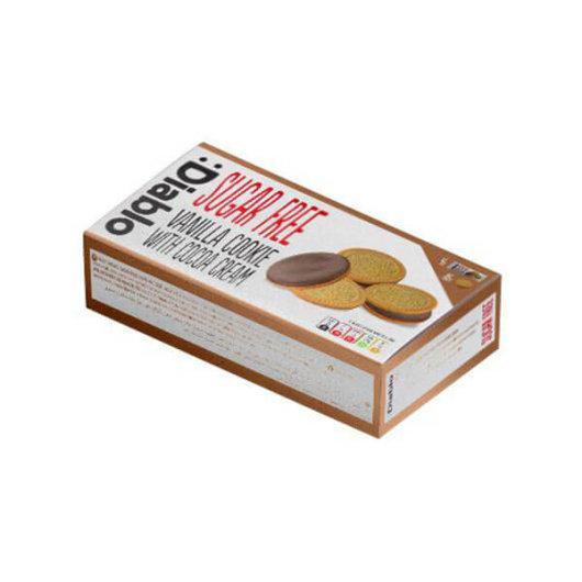 Vanilija sendvič keksi s kakaom bez šećera 176g -Diablo