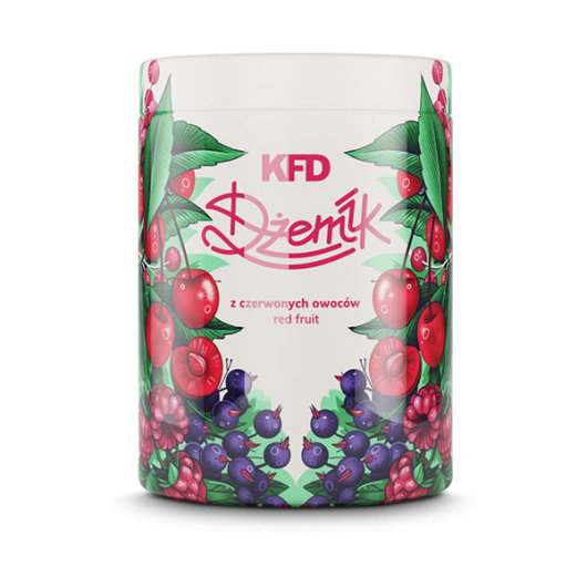 Džem s komadima crvenog voća 1000g - KFD Nutrition