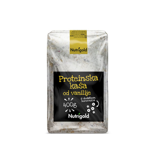 Proteinska kaša Vanilija s dodatkom borovnica 400g - Nutrigold