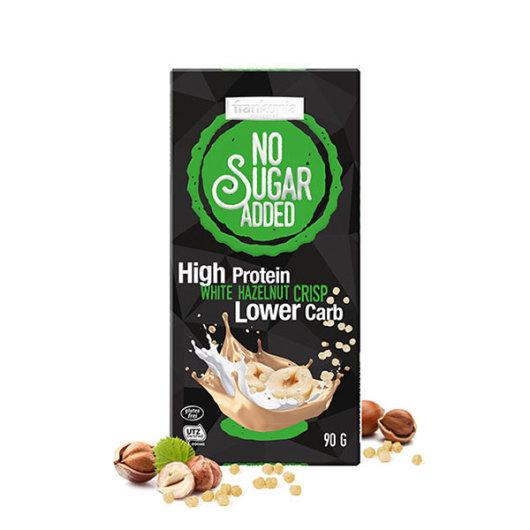 Proteinska čokolada bijela s lješnjakom bez dodanog šećera 90g - Frankonia
