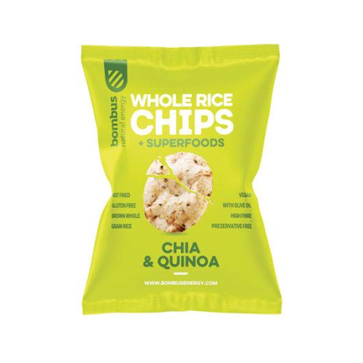 Rižin čips Chia & Quinoa 60g - Bombus