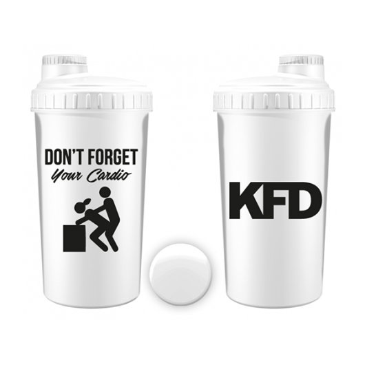 Bijeli shaker CARDIO KFD 700ml - KFD Nutrition