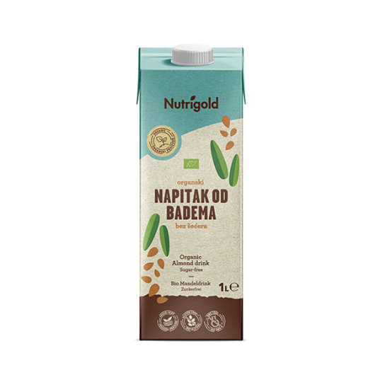 Napitak od badema Organski 1000ml bez šećera - Nutrigold