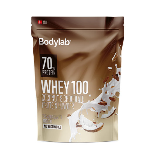 Whey 100 proteini 1000g Kokos & Čokolada - Bodylab