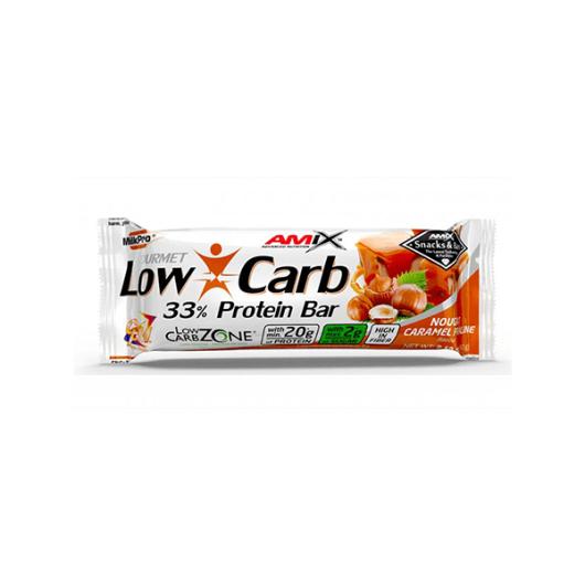 LOw Carb proteinska čokoladica amix u bijeloj ambalaži od 60 grama