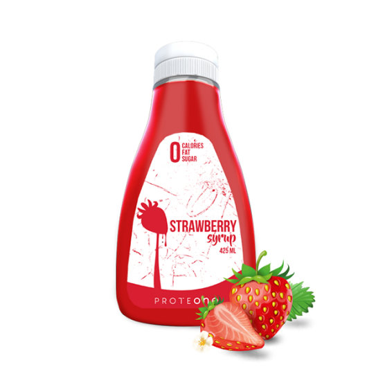 Preljev bez kalorija od jagode ProteONE u plastičnoj ambalaži od 425ml