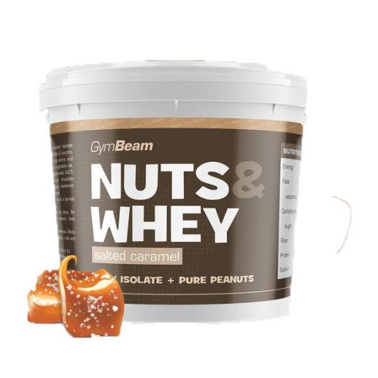 Maslac od kikirikija s proteinima od slane karamele GYmbeam u plastičnoj kantici od 1000 grama