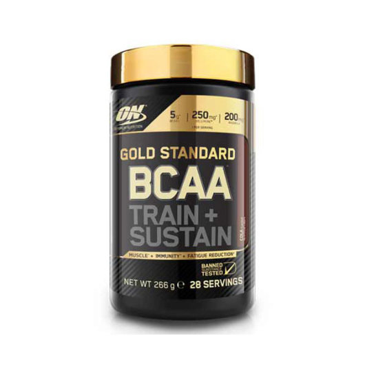 BCAA aminokiseline Optimum Nutition u crno zlatnoj posudici od 266 grama