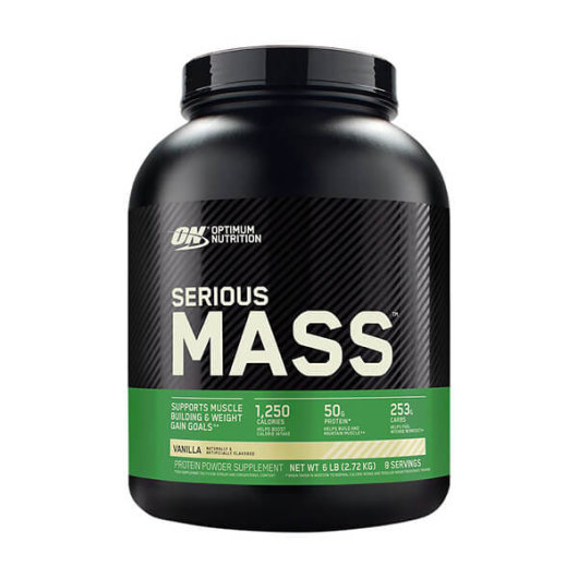 Serious Mass gainer u crno zelenoj katici od Optimum Nutritiona