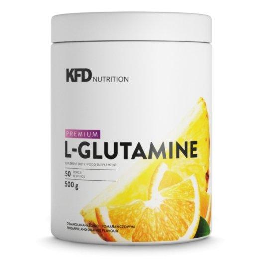 Glutamin u prahu KFD u bijeloj posudici od 500 grama