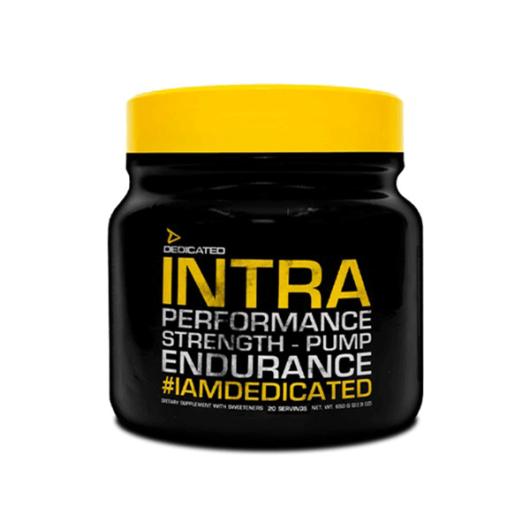 Ugljikohidrati Intra Dedicated Nutrition u crno žutoj posudici od 650 grama