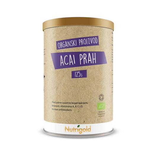 Organski nutrigold Acai u prahu u posudi od 125 grama