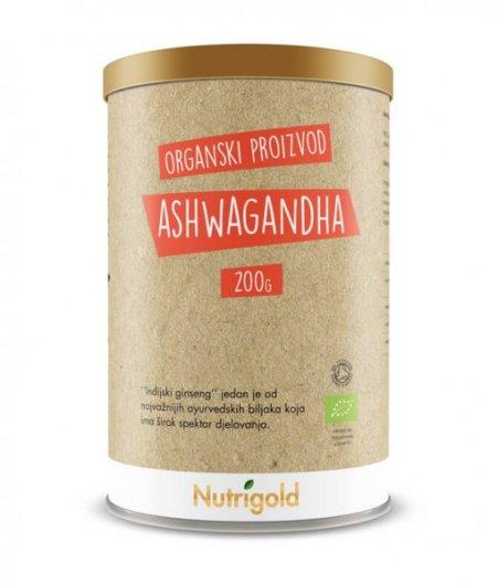 Organski nutrigold Ashwagandha u prahu u posudi od 125 grama