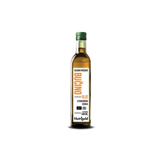 Organsko hladno Prešano bučino ulje Nutrigold u staklenoj boci od 500ml