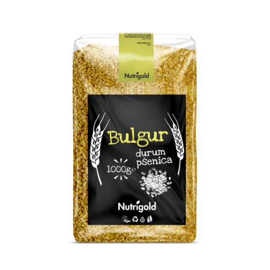 Žitarica bulgur Nutrigold u prozirnoj vrečici od 1000 grama