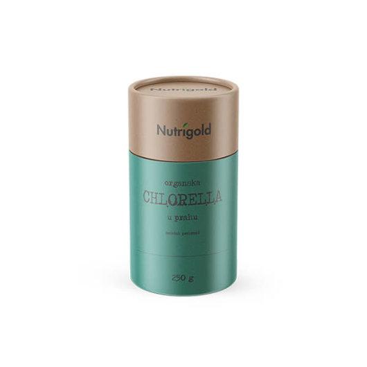 Organski nutrigold Chlorella u prahu u posudi od 250 grama