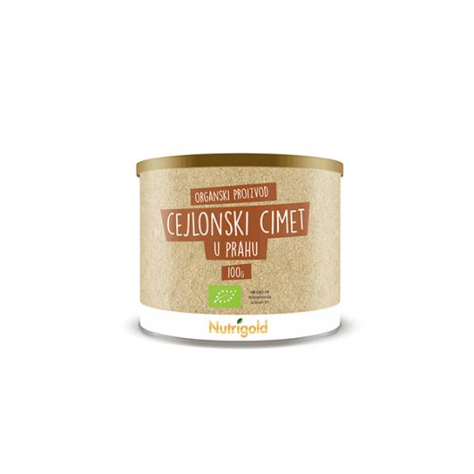 Organski nutrigold Cimet cejlonski  u prahu u posudi od 100 grama