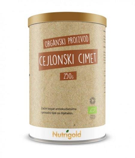 Organski nutrigold Cimet cejlonski  u prahu u posudi od 250 grama