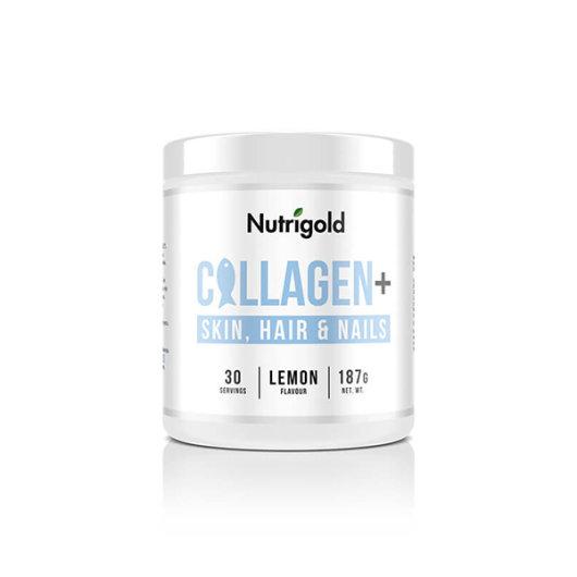 KOlagen u prahu Nutrigold za kožu, kosu i nokte u posudici od 187 grama