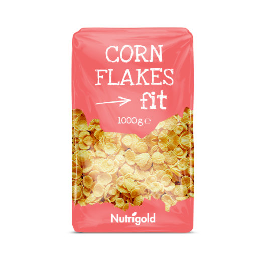 Cronflakes Fit nutrigold u rozoj amabalaži od 1000 grama