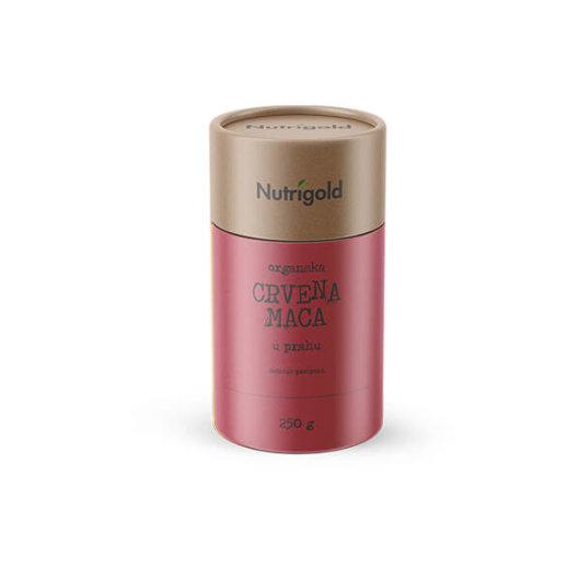 Organski nutrigold Crveni Maca prahu u posudi od 250 grama