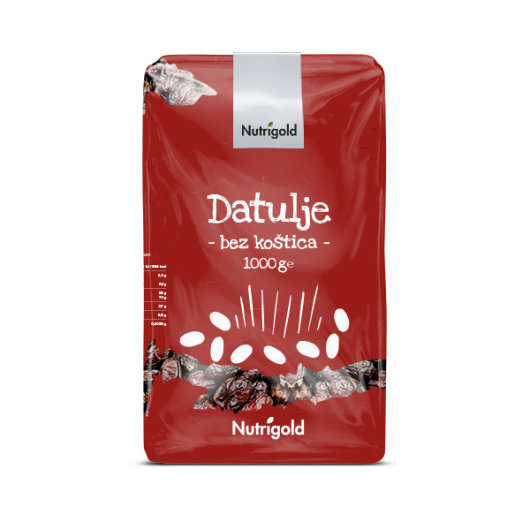 Datulje bez koštica Nutrigold u crvenoj ambalaži od 1000 grama