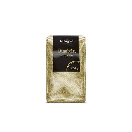 Đumbir u prahu Nutrigold u prozirnoj ambalaži od 200 grama