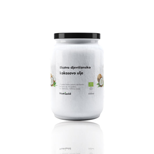 Organsko ekstra djevičansko kokosovo ulje Nutrigold u staklenoj boci od 500ml
