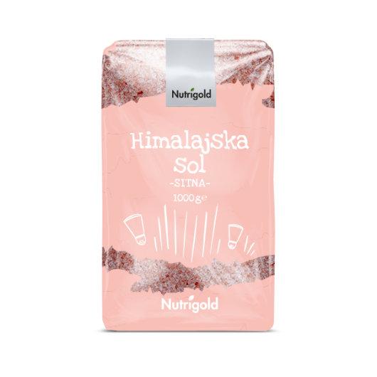 Himalaska sol sitno mljevena Nutrigold u rozoj ambalaži od 1000 grama