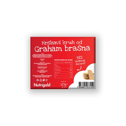 Hrskavi kruh od grahama Nutrigold u crvenoj ambalaži od 125 grama