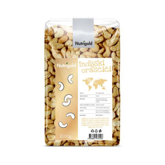 Indijski oraščić Nutrigold u rpozirnoj ambalaži od 1000 grama