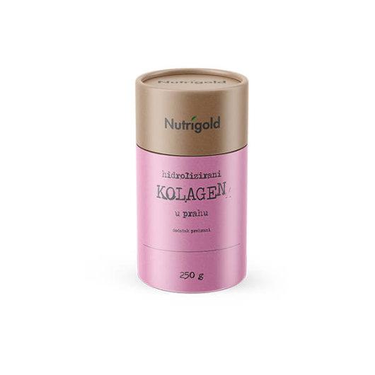 Hidrolizirani kolagen u prahu Nutrigold u posudici od 250 grama