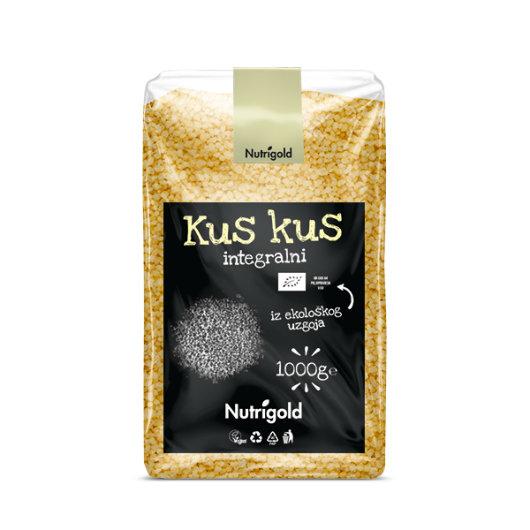 Organski integralni kus kus Nutrigold u prozirnoj vrečici od 1000g