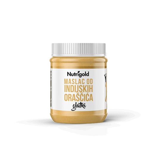 Prirodni maslac od indijskih oraščića Nutrifgold u posudici od 500 grama