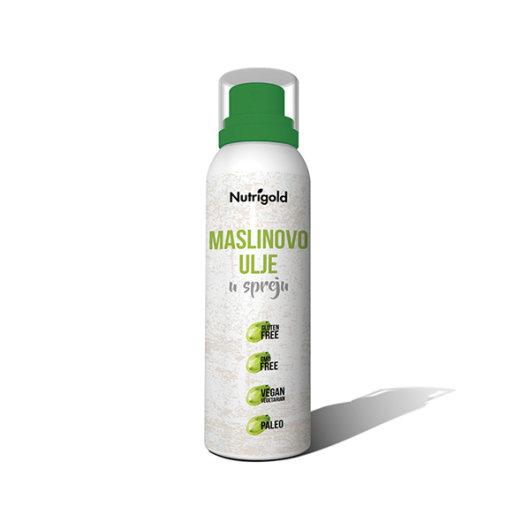 Maslinovo ulje u spreju Nutrigold u bijeloj ambalaži od 201 gram