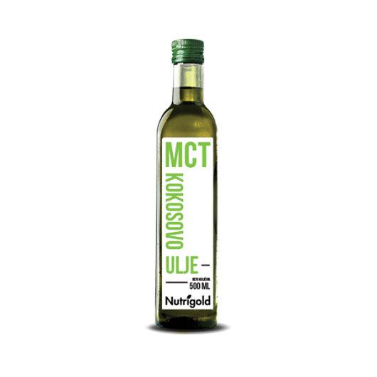 Organsko MCT Kokosovo ulje u staklenoj ambalaži od 500 ml