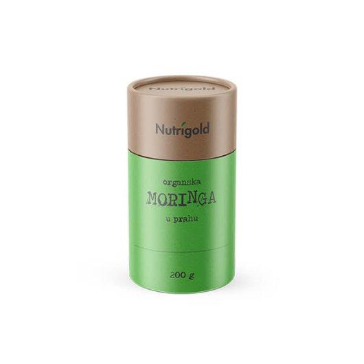 Organska Moringa u Prahu nutrigold u posudici od 200 grama