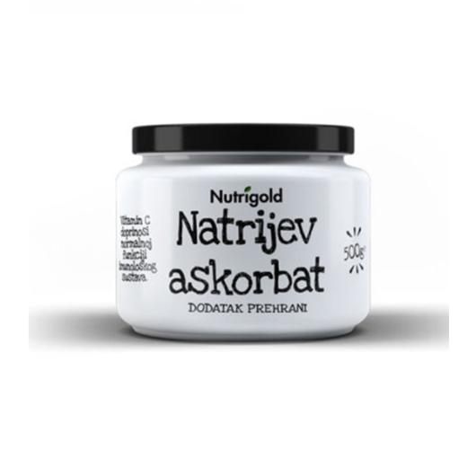 Natrijev askorbat u prahu Nutrigold u staklenci od 500 grama