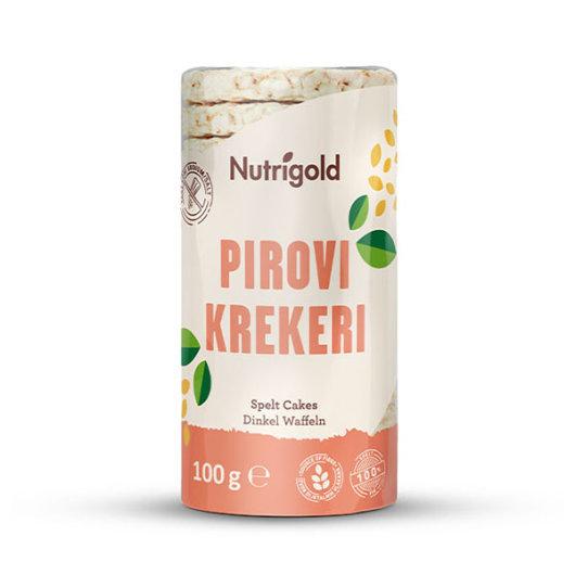 Pirovi krekeri Nutrigold u narančasto bijeloj ambalaži od 100 grama