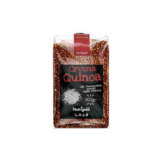 Crvena Quinoa Nutrigold u prozirnoj amabalaži od 500 grama