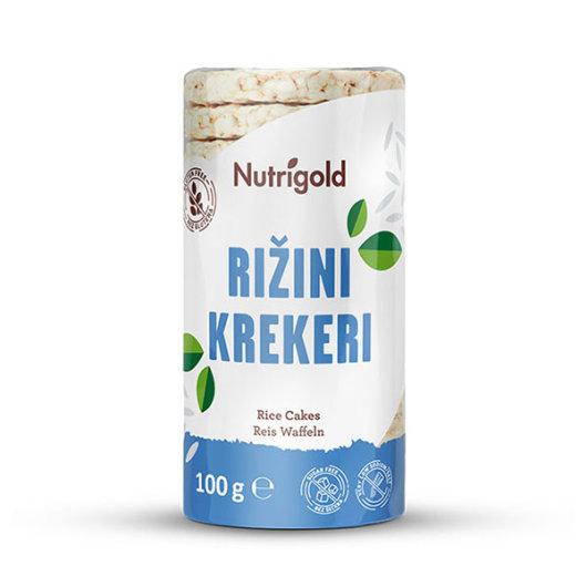 Rižini krekeri 100g natural - Nutrigold