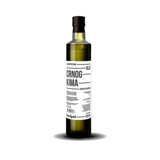 Hladno prešano ulje crnog kima Nutrigold u staklenoj boci od 250ml
