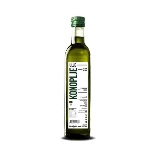 Organsko hladno prešano ulje konoplje Nutrigold u staklenoj boci od 1000ml