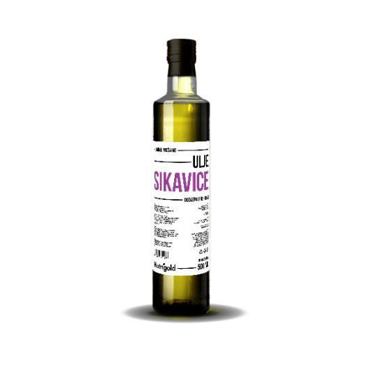 Hladno prešano ulje sikavice  Nutrigold u staklenoj boci od 500ml